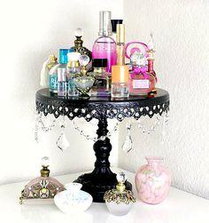 bedroom perfume display