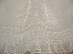 Vintage French Christening Gown # 3 image--just for inspiration...this looks very similar to my Christening gown