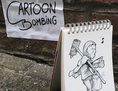 David Troquier - Cartoon bombing