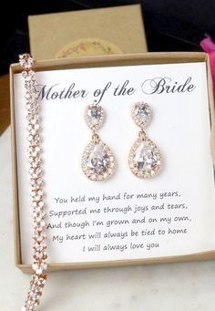 Wedding braceletMother of the Bride Gift by thefabbridal3 on Etsy