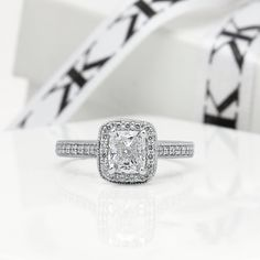 Cushion cut diamond halo engagement ring #bykalfinjewellery #custommade #diamondrings #diamondjewellery #engagementringsmelbourne #cbdjewellers #cityjeweller #weddingrings #bestjewellers #collinsst #melbourne #solitaire #antiquejewellery #diamondjewellery #gentsring  www.kalfin.com.au