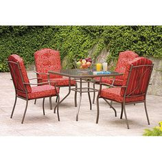 Better homes and gardens azalea ridge 5 piece patio dining for Better homes and gardens azalea ridge chaise lounge