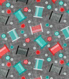 Novelty Cotton Fabric-Thread
