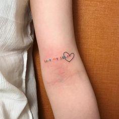 Pretty Tattoos, Love Tattoos, Couple Tattoos, Cool Little Tattoos, Spiritual Tattoo, Tatuagem Diy, Small Colorful Tattoos, Kpop Tattoos, Tattoos Realistic