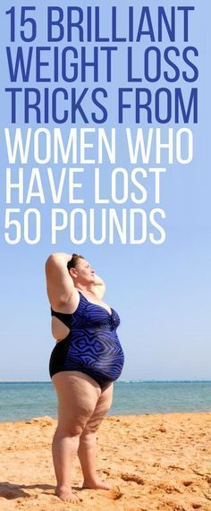 15 amazing weight loss tips from women who have previously lost 50 pounds. Easy Weight Loss Tips, Weight Loss Before, Weight Loss For Women, Weight Loss Goals, Weight Loss Transformation, Best Weight Loss, Weight Loss Motivation, Exercise Motivation, Health Motivation