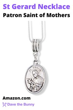 This St Gerard Catholic Jewelry Snake Chain Charm Necklace is the Perfect Catholic Gift for Women and Lovers of St Gerard Medals. Great Religious Jewelry and Catholic Bracelet for Women and Men. Saint Gerard for Fertility Charm Religious Medals of the Catholic Saint is a Wonderful Present for Couples. #pregnancy #stgerard #saintgerard #fertility #conceive #conception #mother #mothers #baby #pregnant #fertile #prenatal #stork #ovulation #fertilitypills #pinkstork #prenatalvitamins