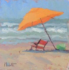 Beachside+Original+Oil+Painting,+painting+by+artist+Heidi+Malott