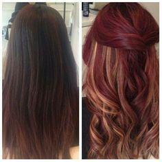 cabello rojo con mechas - Buscar con Google