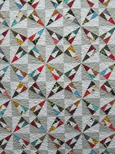 Pattern in Fat Quarterly Issue 6, fabrics are Marcia Derse's Third in Line. Stitched by alobsiger on Flickr.