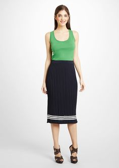 JONES NEW YORK  Pleated Knit Skirt