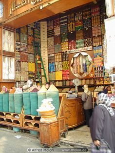 Just getting some ideas about local design style related to food and drink ... Spices shop Cairo