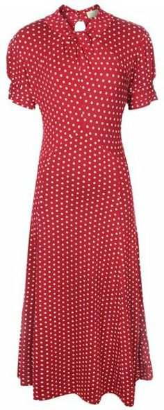725a9a804a1c Lindy Bop 'Amie' Classy Red Polka Dot Vintage Pinup Flared Retro Tea Dress  Was: Now: [ ]