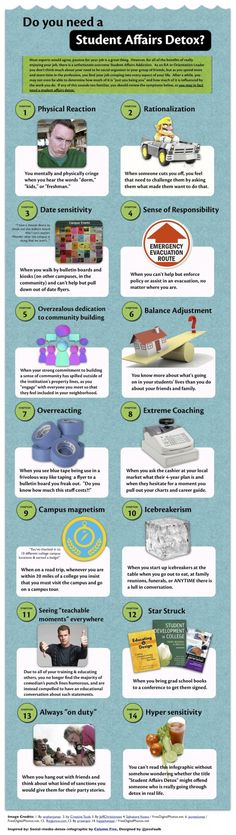 Student Affairs Detox -- OMG this is SO true! Student affairs made me a total basket case.