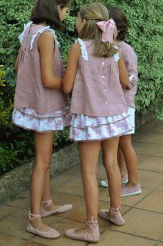 Ideales Little Girl Models, Cute Little Girls Outfits, Cute Girl Dresses, Kids Outfits Girls, Little Girl Fashion, Little Girl Dresses, Girly Outfits, Cute Girls, Kids Fashion