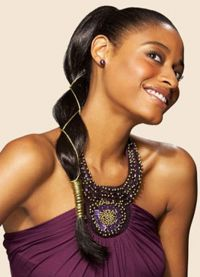 Braids and ponytail can be combined to get two categories of hairstyles. Here are braided ponytail hairstyles for black women that you will definitely love. Braided Ponytail Hairstyles, Sleek Ponytail, Prom Hairstyles, Hairstyle Ideas, Party Hairstyle, Braid Ponytail, Perfect Hairstyle, Weave Hairstyles, Classic Hairstyles