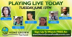 Here's the list of speakers going live today at the Home Grown Food Summit 2017. We are forward to it. Register to watch for FREE at www.homegrownfoodsummit.com.  #FoodSummit #Homsteading #Gardening #GrowYourOwnFood #Naturalfood #Organic #urbangardening #Freshfood #Backyardgardening #organicfood #GoingLive