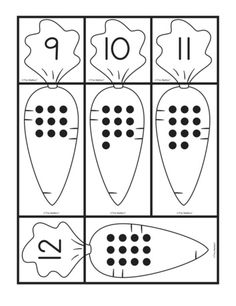 Carrot Cards: matching sets and numbers, Lesson Plans - The Mailbox Preschool Math, Math Classroom, Educational Activities, Preschool Activities, Abc Coloring Pages, 3d Christmas Tree, Math Numbers, Math Concepts, Learning Activities