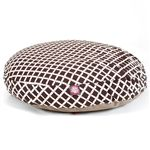 Small Round Pet Bed Chocolate Bamboo