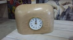 Beautiful wooden clock. Such an interesting accessory to have in the home. There are many more unique and different accessories in store for everyone's taste