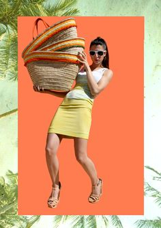 Hey you! Come to the beach by Tatin on Etsy Straw Beach Tote, Straw Tote, Oversized Beach Bags, Summer Tote Bags, Beautiful Handbags, Orange Leather, Leather Handle, Shops, Lovers