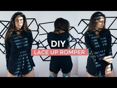 Tutorial | Colorful DIY Romper with Sleeves | DIY Clothes - YouTube