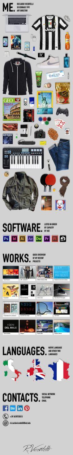 CCV Creative Curriculum Vitae by Riccardo Vicentelli, via Behance