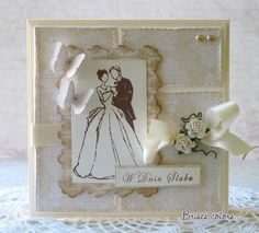Brises--love how GORGEOUS this card is monochromatic--amazing!
