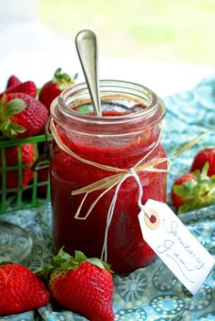Use fresh strawberries to make a quick and easy Strawberry Refrigerator Jam