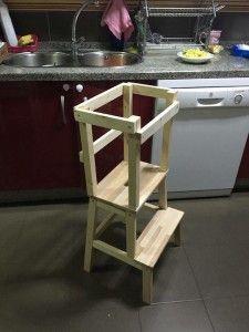 Torre de aprendizaje Montessori DIY (Laura para Team Mama)