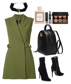 """Untitled #626"" by lejla588 ❤ liked on Polyvore featuring Balmain, Anastasia Beverly Hills, Yves Saint Laurent and Gucci"