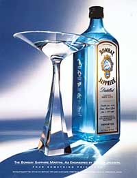 Bombay Sapphire ad Bombay Sapphire ad [VAUGHAN: ASK THE BOMBAY ARCHIVE FOR THIS]