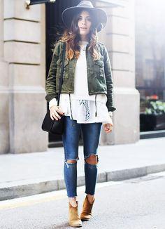 Outra tendência dessa temporada são as suede boots, que são ótimas para o frio e também podem ser usadas no calor, com uma roupa mais fresquinha.