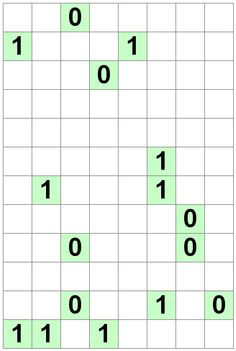 Number Logic Puzzles: 20143 - Binary size 3