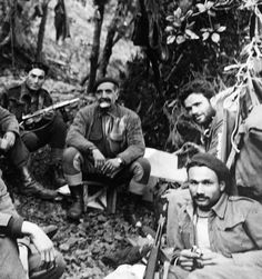 While searching for EOKA fighters, British troops discovered a box camera containing film. When it was developed it showed an EOKA Camp in the Troodos Mountains and George Grivas surrounded by some of his lieutenants. The photos were released by the Cyprus authorities.