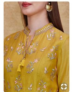 Indian Fashion Designers - Anita Dongre - Contemporary Indian Designer - The Keahi Suit - Kurti Neck Designs, Dress Neck Designs, Sleeve Designs, Blouse Designs, Indian Designer Suits, Indian Fashion Designers, White Shirts Women, Blouses For Women, Indian Attire