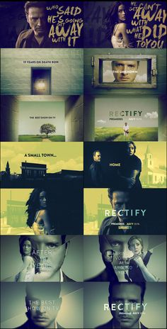 motion graphics/ storyboards/ styleframes | RECTIFY SEASON 3 PROMO DESIGN