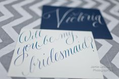Calligraphy for bridesmaid cards (Vendor Spotlight: Everly Calligraphy: Brooklyn Wedding Photographer) #calligraphy #wedding #bridesmaidcards