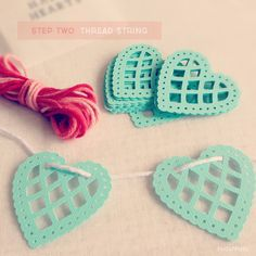 Handmade: Heart Garlands. The link is lost but the hearts are pretty.