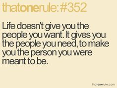 On the people in your life