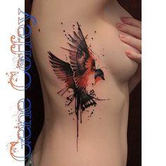 Robin ribs #robin #robintattoo #birdtattoo #ribtattoo #watercolortattoo…