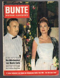 BUNTE Deutsche Illustrierte, Nr. 35, 27.8.1960, Fest in Monaco, Gracia Patricia | eBay