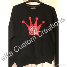 Crown and Monogram sweatshirt.