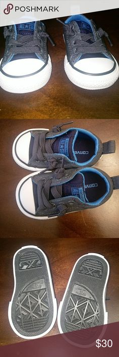 *NEW*Baby boy converse sneakers Never worn. Too small for my son.  Size 3. Converse Shoes Sneakers