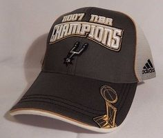 37dab3e8235 San Antonio Spurs 2007 NBA Finals CHAMPIONS Adidas NWT Hat Cap Basketball  RARE SOLD
