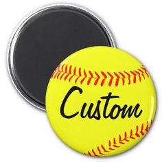 Custom #Softball Magnet