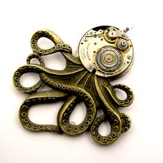 steampunk influenced by SteamSect on deviantART Octopus Jewelry, Steampunk Octopus, Deviantart, Etsy Shop, Pendant, Envy, Accessories, Hang Tags, Pendants