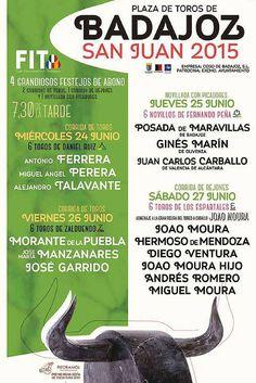 Entradas de toros Badajoz, Feria de San Juan 2015,