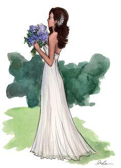My favorite modern day artist, Inslee Haynes, did this beautiful watercolor portrait of me in my wedding dress. Love it, Love her! Thank you @InsleeHaynes