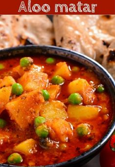 Aloo matar: potato and peas curry,cooked with onion and tomato. Jain Recipes, Veg Recipes, Curry Recipes, Potato Recipes, Indian Food Recipes, Vegetarian Recipes, Aloo Curry, Veg Curry