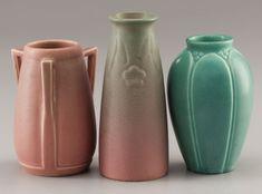 THREE AMERICAN ART POTTERY VASES   Rookwood Pottery, Cincinnati, Ohio, 1925-1940